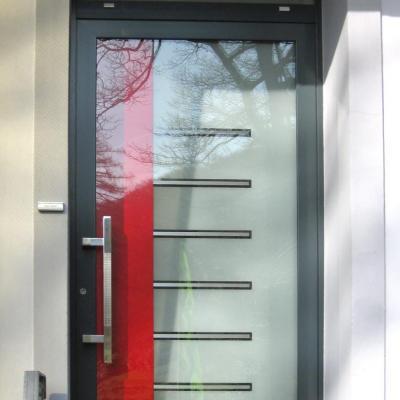 Aluminium Haustür mit Designglas / Radevormwald