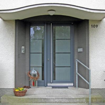 Haustür mit Seitenteil, Ganzglasfüllung / Remscheid