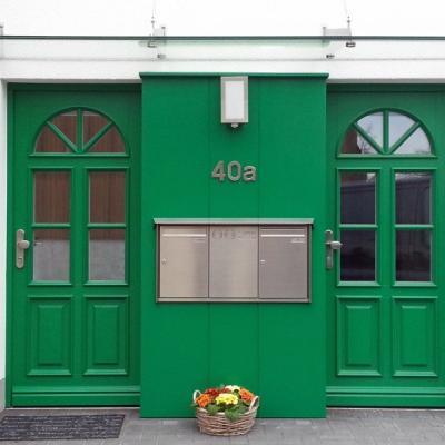Haustürenanlage mit Wandverkleidung / Wermelskirchen