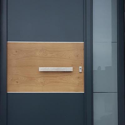 KOWA Holz Haustür mit Applikation Eiche astig / Wipperfürth