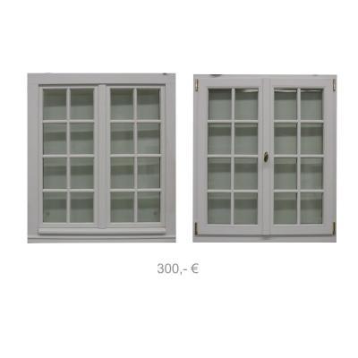 Holzfenster weiss Alarmglas 1100 x 1250 - 300€