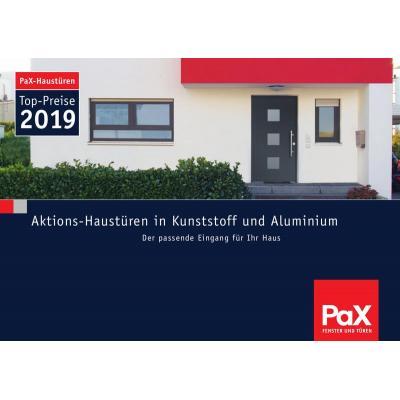 PaX Haustüraktion Kunststoff und Aluminium 2019